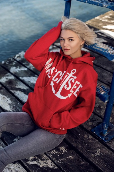 Hoodie 'Maschsee 01' Classic Red